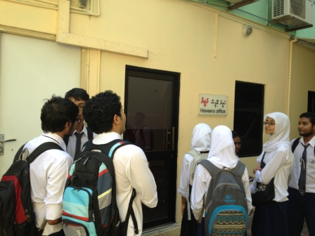 CAE/CPE STUDENTS VISITS HAVEERU DAILY PRESS AND INTERACTS WITH THE EDITOR